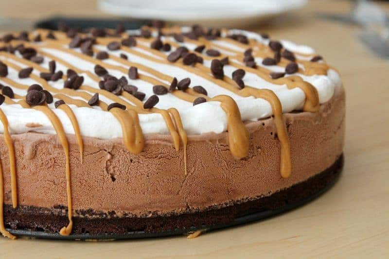 Peanut Butter Brownie Ice Cream Cake - The Bitter Side of Sweet