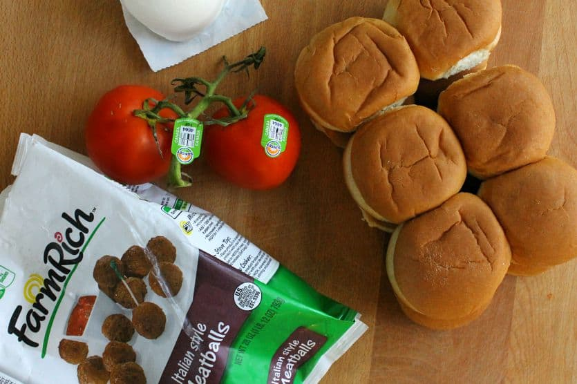 Italian Meatball Sliders - The Bitter Side of Sweet #BackYourSnack #ad