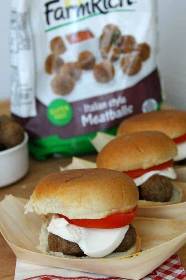 Italian Meatball Sliders - The Bitter Side of Sweet #BackYourSnack #ad