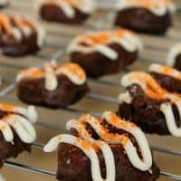 Baked Pumpkin Brownie Donuts