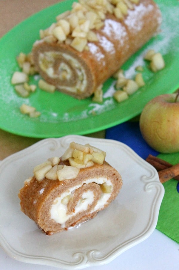 Cinnamon Apple Cake Roll | The Bitter Side of Sweet