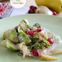 Pear and Ginger Brussels Sprouts