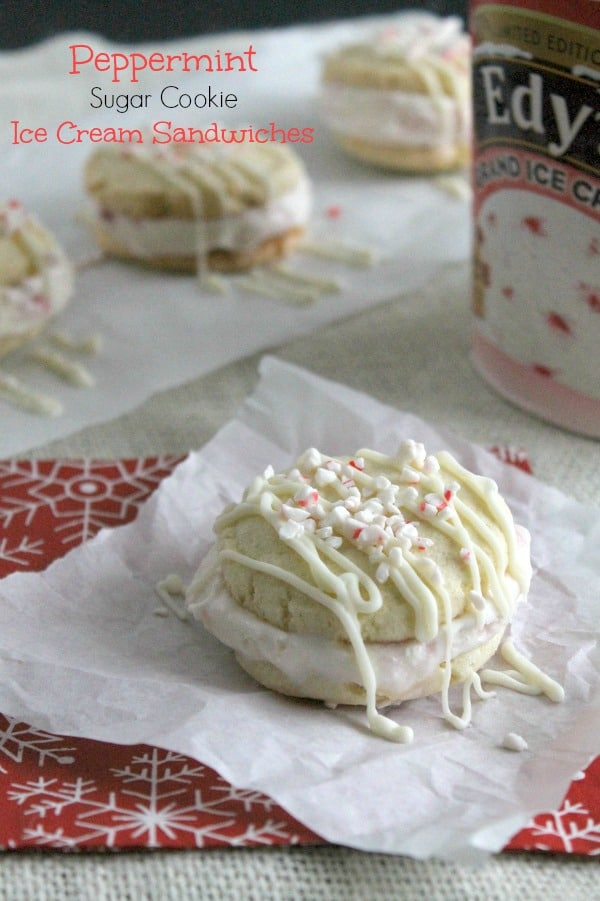 Peppermint Sugar Cookie Ice Cream Sandwiches - The Bitter Side of Sweet #NestleHoliday #CollectiveBias #ad