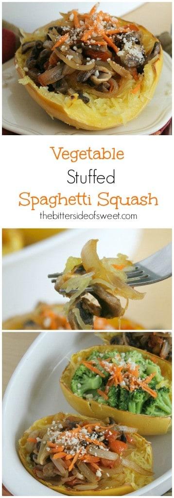Vegetable Stuffed Spaghetti Squash - The Bitter Side of Sweet