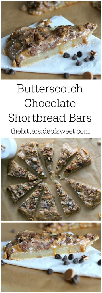 Butterscotch Chocolate Shortbread Bars - The Bitter Side of Sweet