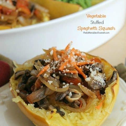 Vegetable Stuffed Spaghetti Squash