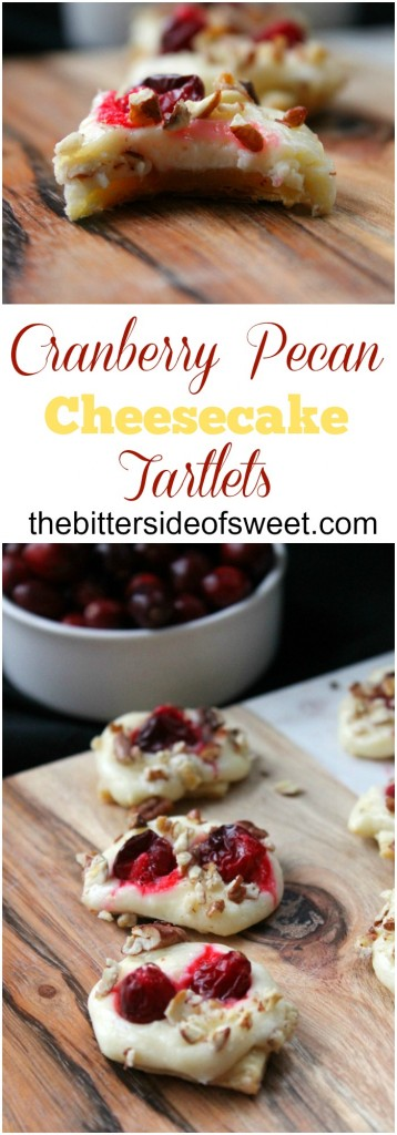 Cranberry Pecan Cheesecake Tartlets - The Bitter Side of Sweet #NaturallyCheesy #ad