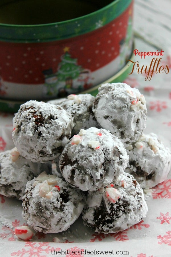 Peppermint Truffles - The Bitter Side of Sweet #christmasweek