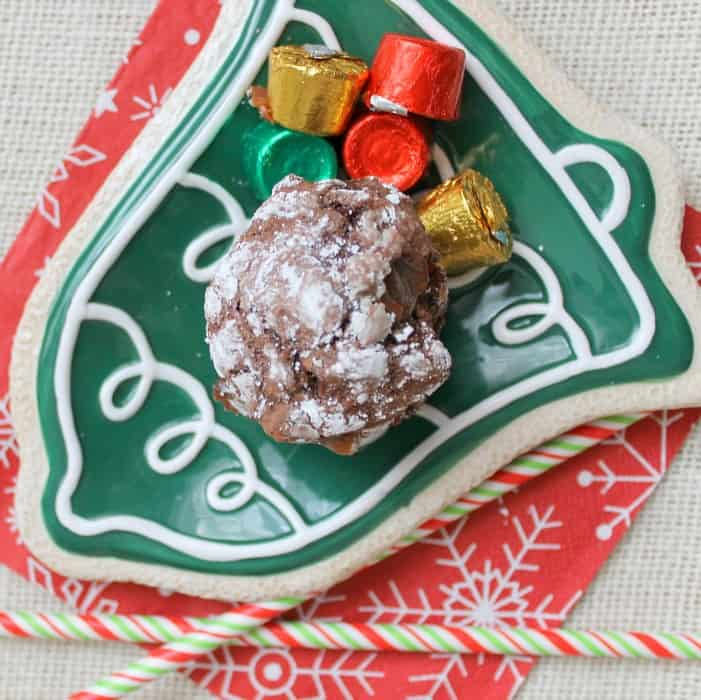 Rolo Crinkle Cookies Square