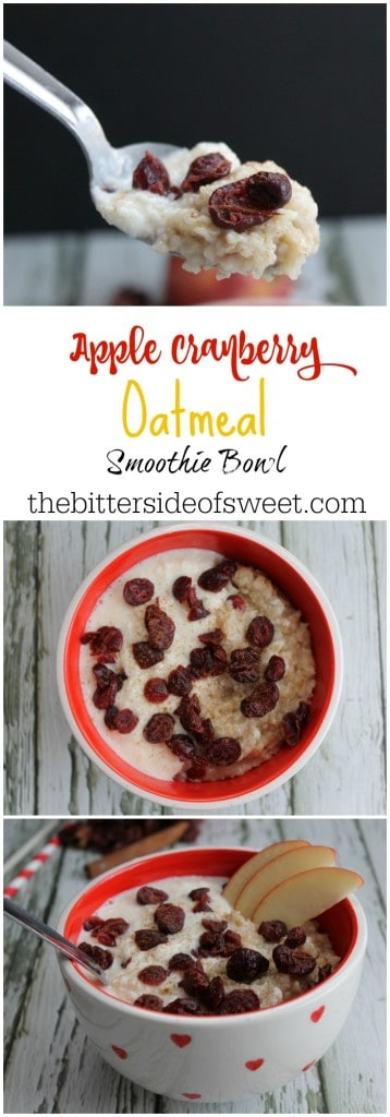 Apple Cranberry Oatmeal Smoothie Bowl | The Bitter Side of Sweet #BringYourBestBowl #Target #ad