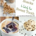 Healthy Snacks to Satisfy Your Sweet Tooth Collage