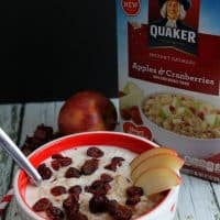 Apple Cranberry Oatmeal Smoothie Bowl