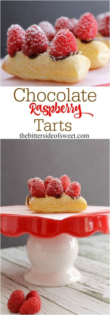 Chocolate Raspberry Tarts | The Bitter Side of Sweet