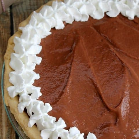 Chocolate Pudding Pie #SundaySupper