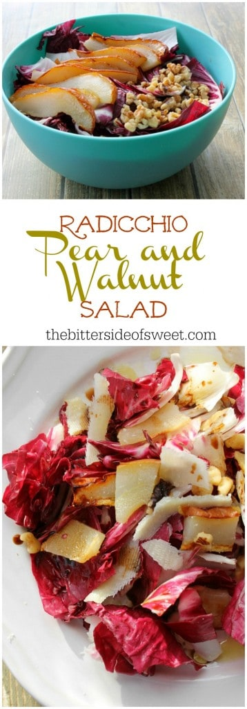 Radicchio Pear and Walnut  Salad  | The Bitter Side of Sweet