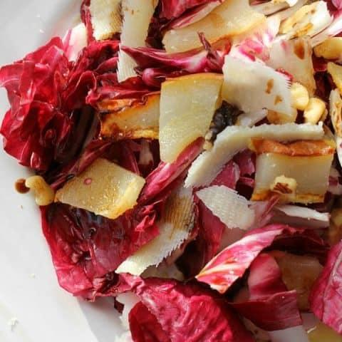 Radicchio Pear Walnut Salad