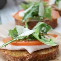 Whole Wheat Smoked Turkey Bruschetta