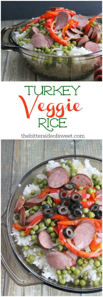 Turkey Veggie Rice | The Bitter Side of Sweet Sponsored by Hillshire Farm®
