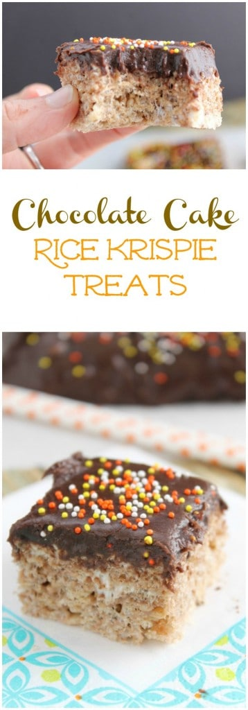 Chocolate Cake Rice Krispie Treats | The Bitter Side of Sweet