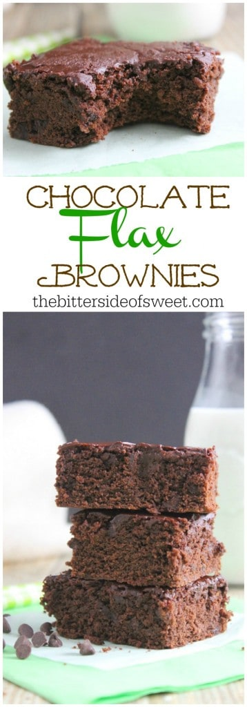 Chocolate Flax Brownies | The Bitter Side of Sweet