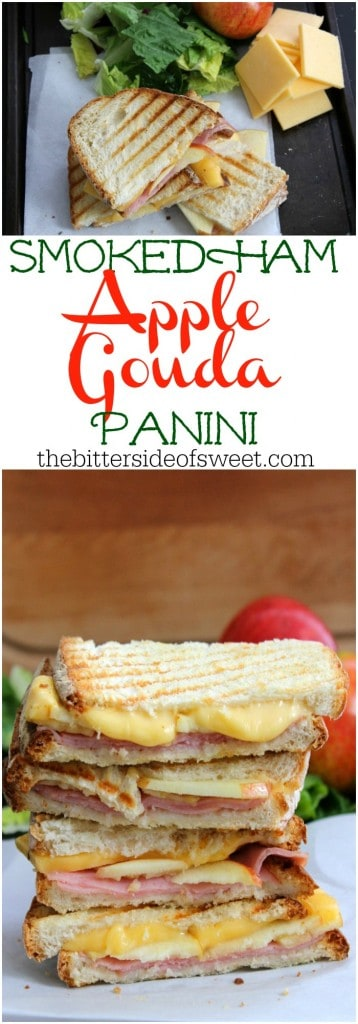 Smoked Ham Apple Gouda Panini | The Bitter Side of Sweet