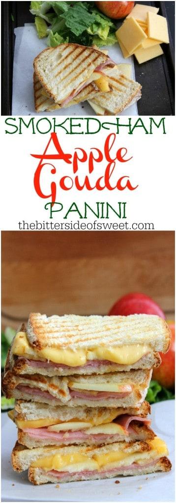 Smoked Ham Apple Gouda Panini | The Bitter Side of Sweet