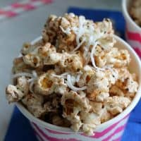 Chocolate Coconut Flax Popcorn
