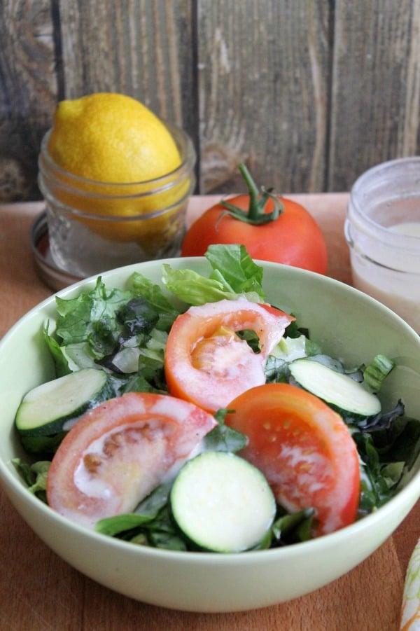 Lemon Pepper Yogurt Dressing | The Bitter Side of Sweet