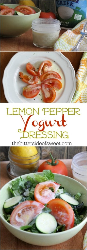 Lemon Pepper Yogurt Dressing | The Bitter Side of Sweet