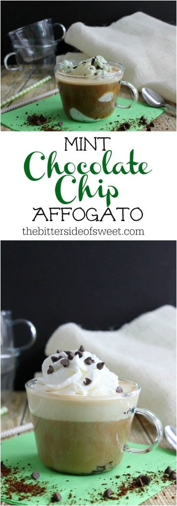 Mint Chocolate Chip Affogato | The Bitter Side of Sweet #sponsored #Folgers