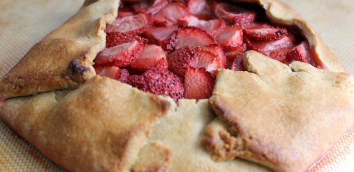 Whole Wheat Strawberry Galette #SundaySupper