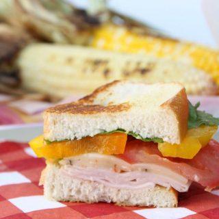 #ad Grilled Turkey Veggie Sandwich | The Bitter Side of Sweet