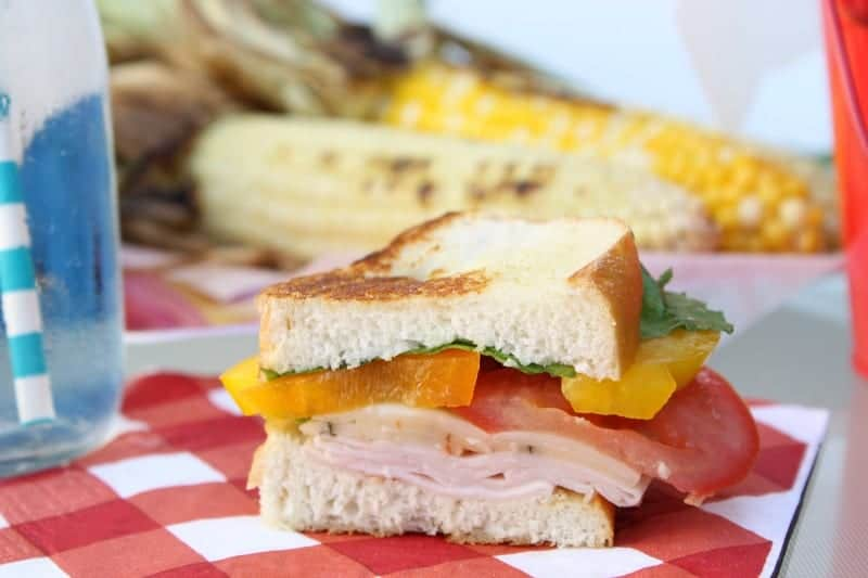#ad Grilled Turkey Veggie Sandwich | The Bitter Side of Sweet