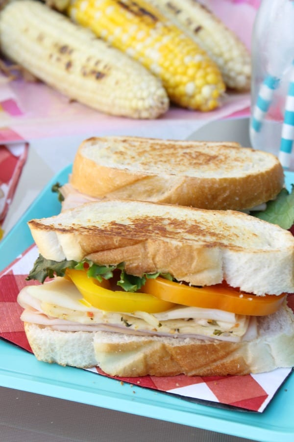 ad Grilled Turkey Veggie Sandwich | The Bitter Side of Sweet