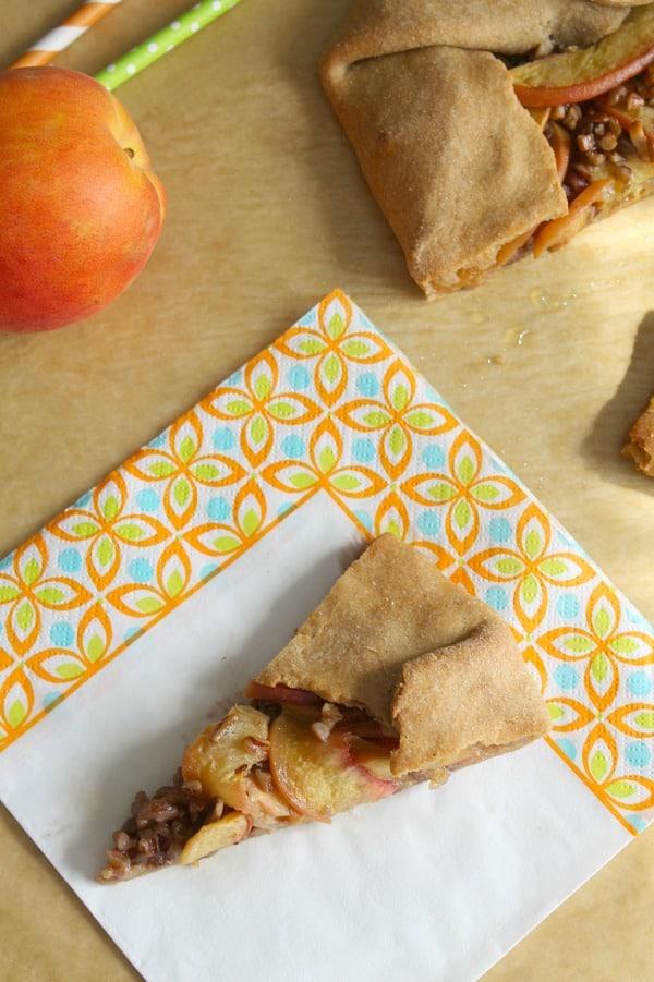 Peach Honey Pecan Galette | The Bitter Side of Sweet #SundaySupper
