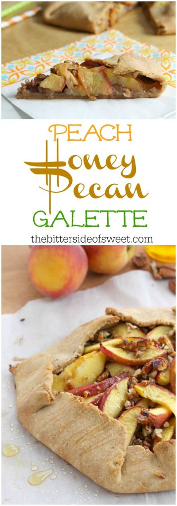 Peach Honey Pecan Galette | The Bitter Side of Sweet #SundaySupper