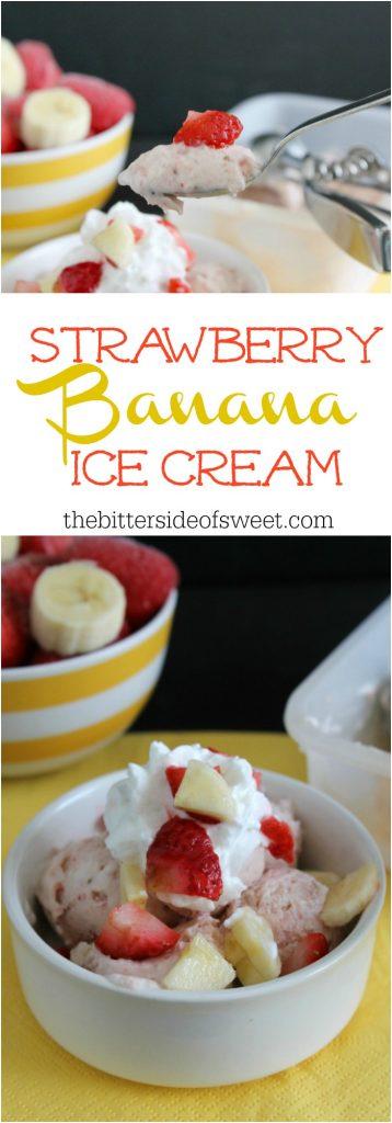 Strawberry Banana Ice Cream | The Bitter Side of Sweet