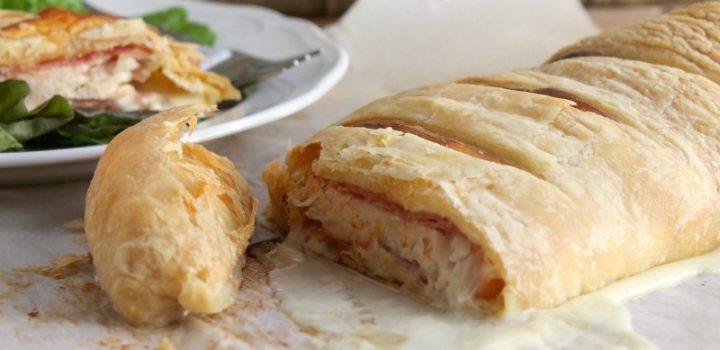 Chicken Cordon Bleu Puff Pastry