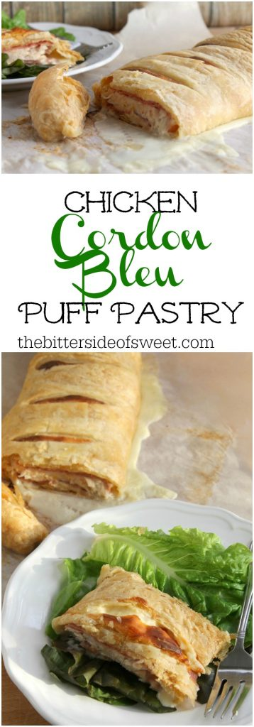 Chicken Cordon Bleu Puff Pastry | The Bitter Side of Sweet