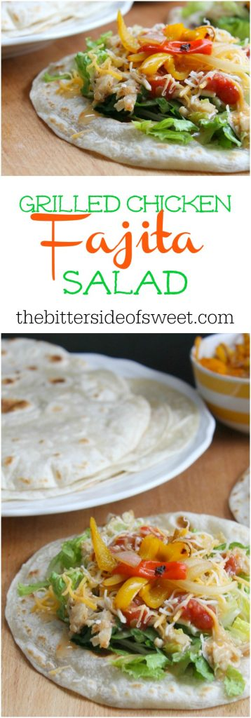 Grilled Chicken Fajita Salad | The Bitter Side of Sweet #sponsored #ad