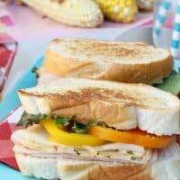Grilled Turkey Veggie Sandwich