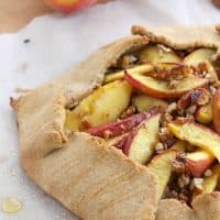 Peach Honey Pecan Galette