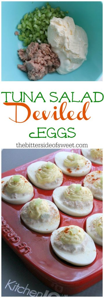 Tuna Salad Deviled Eggs | The Bitter Side of Sweet