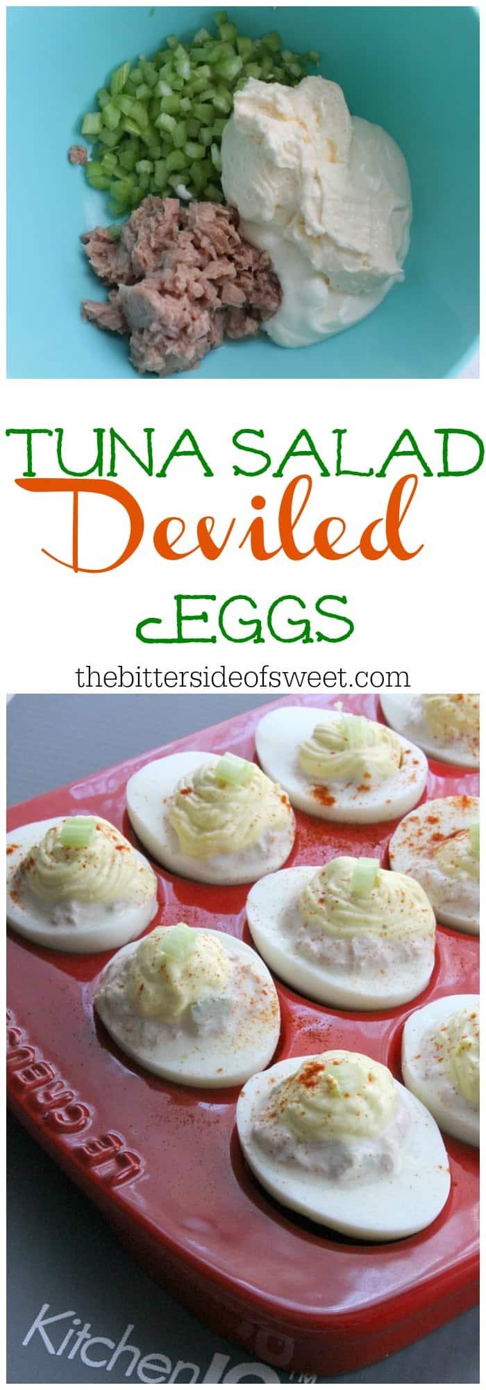 tuna salad stuffed eggs