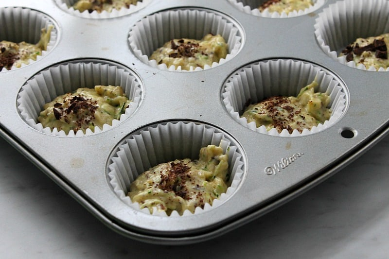 Chocolate Zucchini Banana Muffins   The Bitter Side of Sweet #SundaySupper