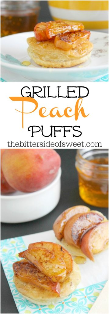 Grilled Peach Puffs | The Bitter Side of Sweet