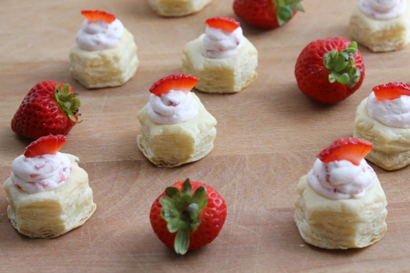 Strawberry Cream Puff Pastry Cups | The Bitter Side of Sweet
