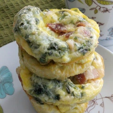 Bacon Egg and Cheese Spinach Cups