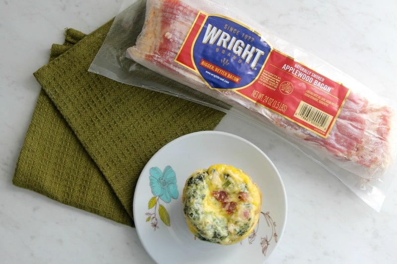 Bacon Egg and Cheese Spinach Cups | The Bitter Side of Sweet