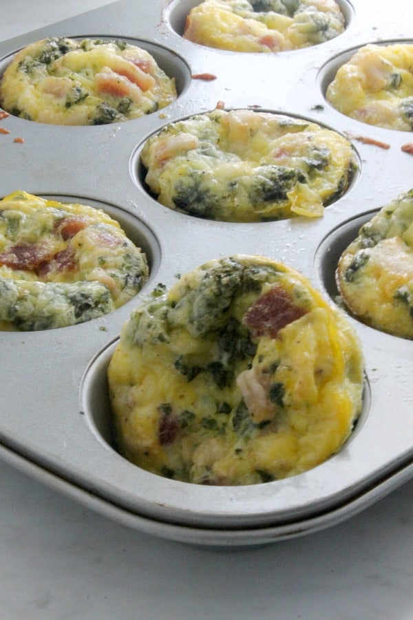 Bacon Egg and Cheese Spinach Cups   The Bitter Side of Sweet